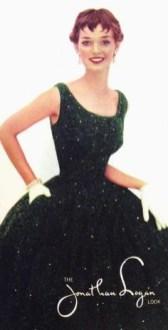 Dolores Hawkins wearing Jonathan Logan, 1954