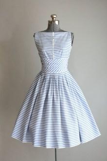 1950s Jonathan Logan striped dress