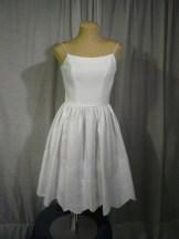 1950s white dress by Jonathan Logan