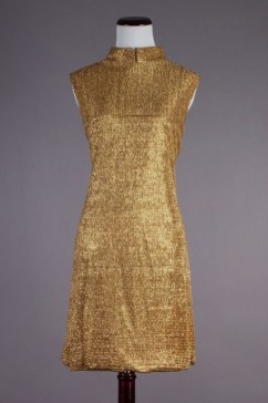 60s gold dress by Jonathan Logan