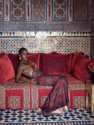Lupita Nyongofor Vogue in Marrakech