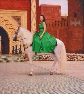 The designer Fatima Bergstrom in Morocco
