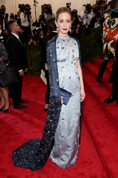"""NEW YORK, NY - MAY 04: Emily Blunt attends the """"China: Through The Looking Glass"""" Costume Institute Benefit Gala at the Metropolitan Museum of Art on May 4, 2015 in New York City. (Photo by Dimitrios Kambouris/Getty Images)"""