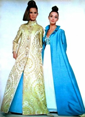 Brigitte Bauer and Ina Balke photographed by Rico Puhlmann, long evening coats by Uli Richter
