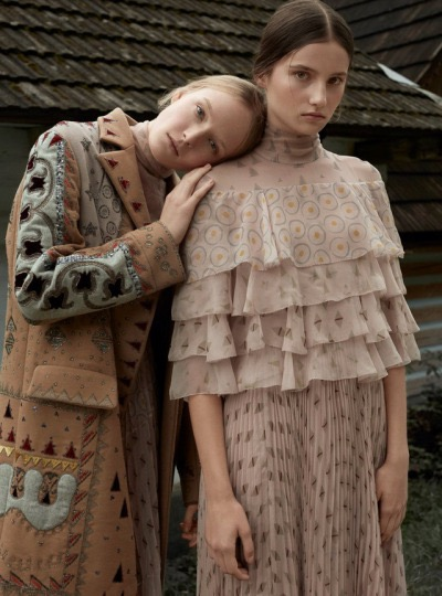 Maja Salamon and Julia Modzelewska by Agata Pospieszynska for Harpers Bazaar Poland February 2017