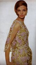 1961 Harpers Bazaar , Contessa Chrhistina Polozzi in Galanos,Richard Avedon