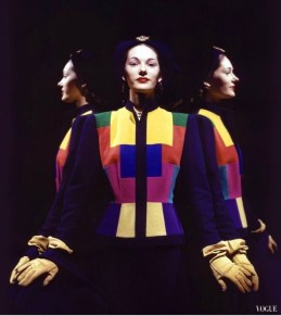 Marilyn Ambrose Three views lend a slight surrealist quality to image cubist design Vogue january 1944