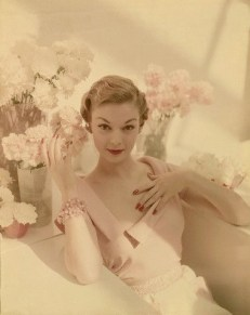 Model Jean Patchett is shown front and center in this springtime photograph by John Rawlings, which appeared in the May 15, 1950