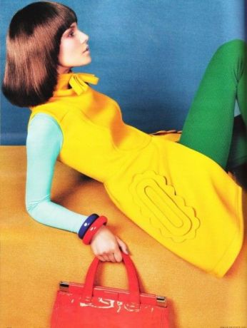 """Suvi Koponen in """"COLOR UP!"""" Photographed by Sebastian Kim and Styled by Kate Mossman for VOGUE GERMANY October 2010"""
