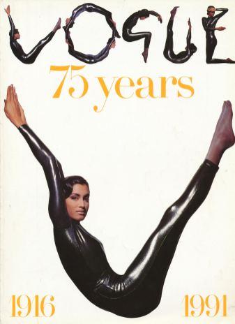 Yasmeen Ghauri by Tyen, British Vogue_s Special Edition 75th Anniversary issue in June, 1991