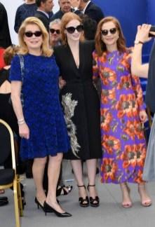 Catherine Deneuve, Jessica Chastain and Isabelle Hupert