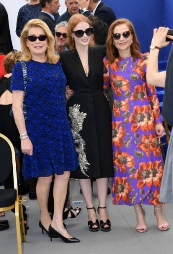 Catherine Deneuve, Jessica Chastain and Isabelle Hupert