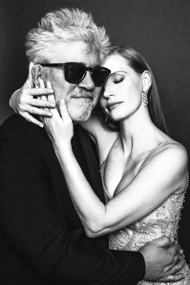 Almodovar and Jessica Chastain