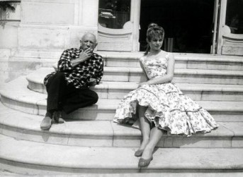 Pablo Picasso and Brigitte Bardot