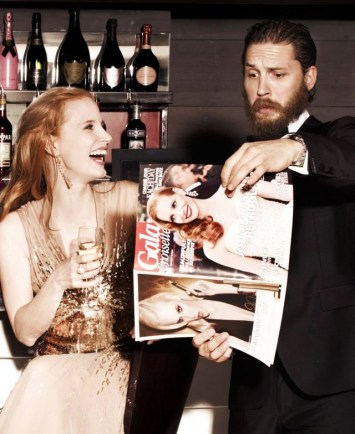 Jessica Chastain and Tom Hardy