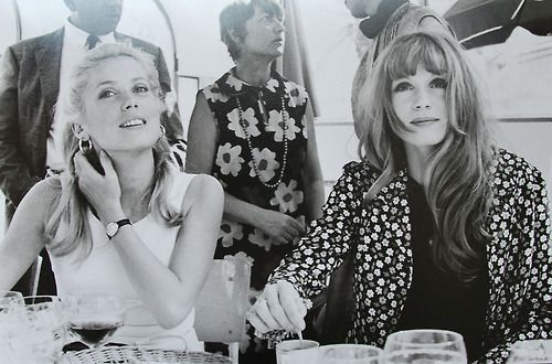Catherine Deneuve and Francoise Dorléac