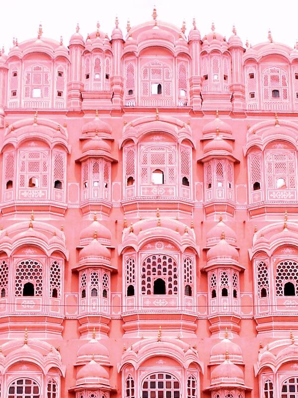 The pink palace in Jaipur, Rajasthan, India