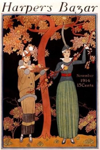 Harper's Bazaar cover November 1914 by George Barbier