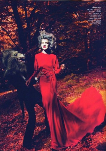 Into the woods Natalia Vodianova by Mert & Marcus for Vogue US September 2009