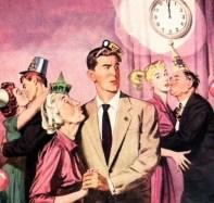 New year illustration 1950s