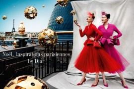 Christmas ad by Dior for Printemps Paris
