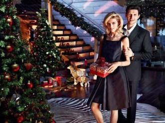 Anja Rubik and her husband in Aparts Christmas 2013