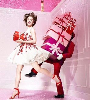 Lily Collins Christmas