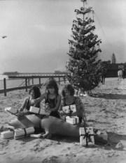 Christmas 1920s beach