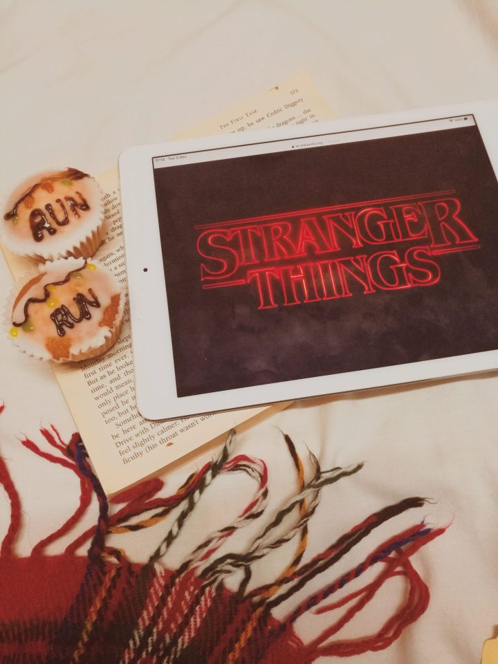 baking treats inspired by books and tv shows (stranger things) blogmas