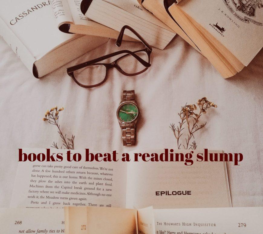 beat a reading slump, overcome a reading slump, book blogger,