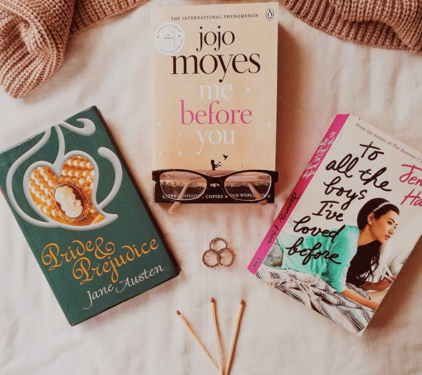 books to movies adaptations romance edition, pride and prejudice, me before you, to all the boys I've loved before, book blogger