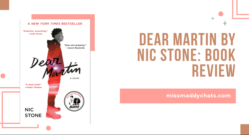dear martin, nic stone diverse books by black authors, black authors, ya contemporary goodreads, book blogger, bookstagrammer,