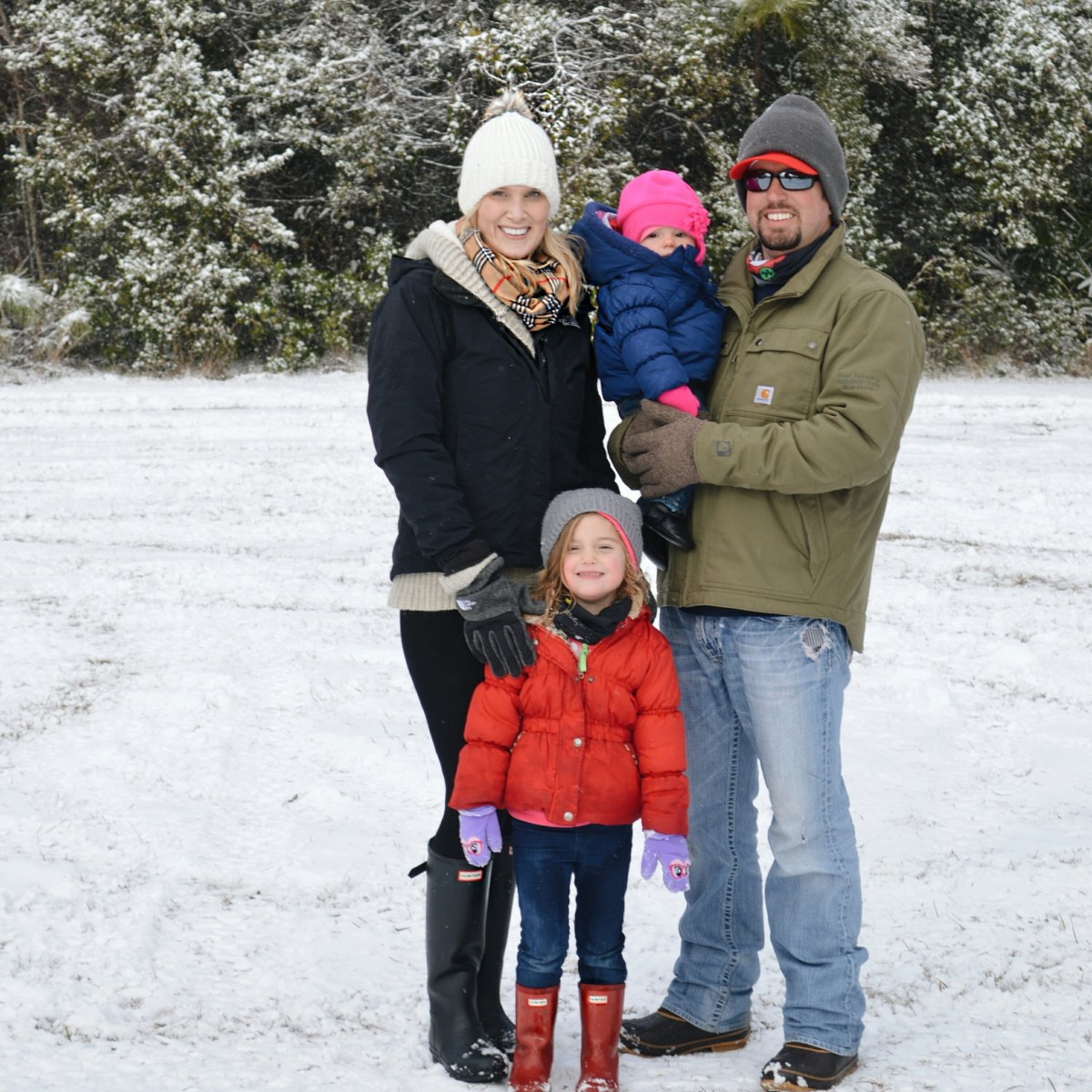 god left me out- family in the snow