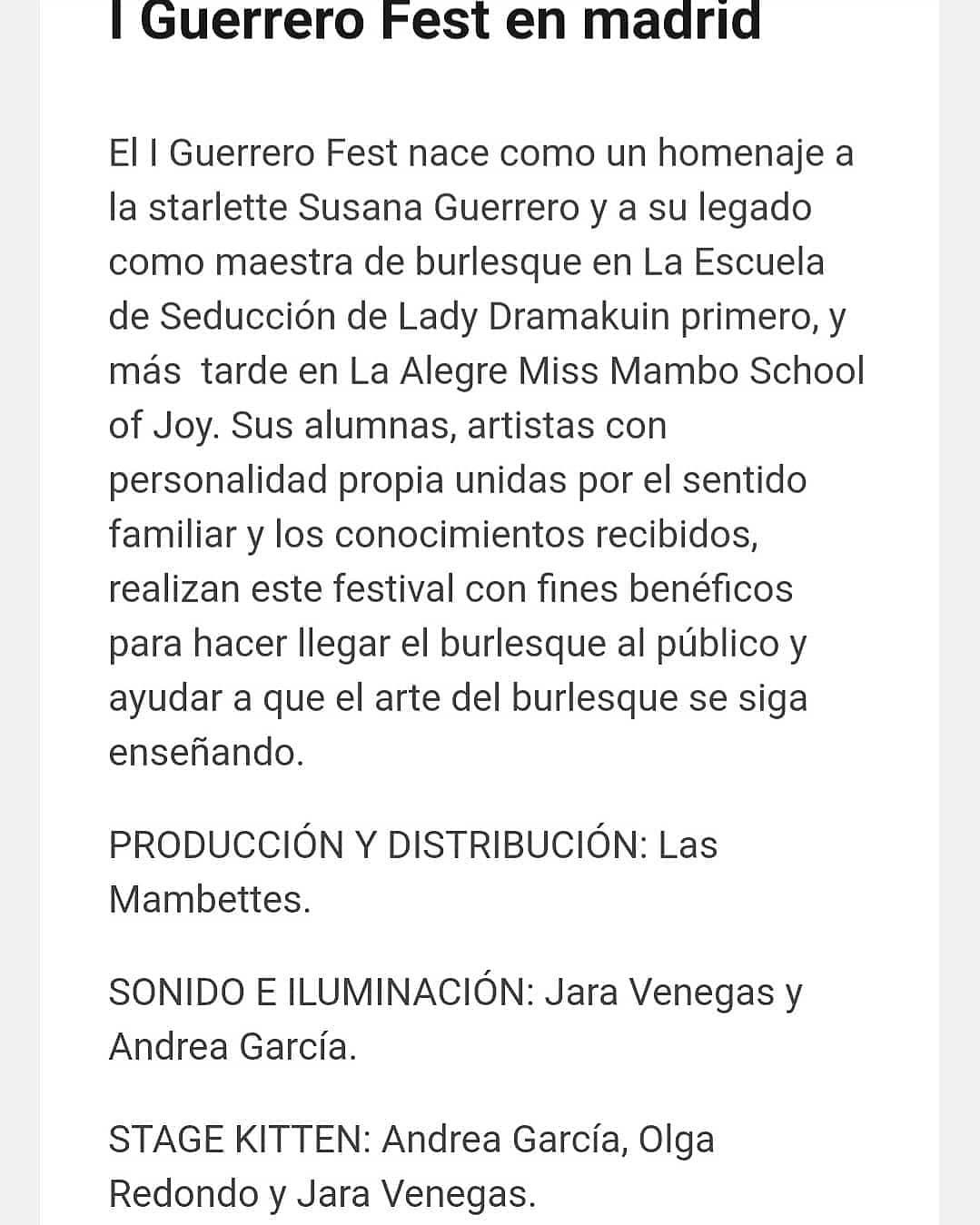 I Guerrero Fest