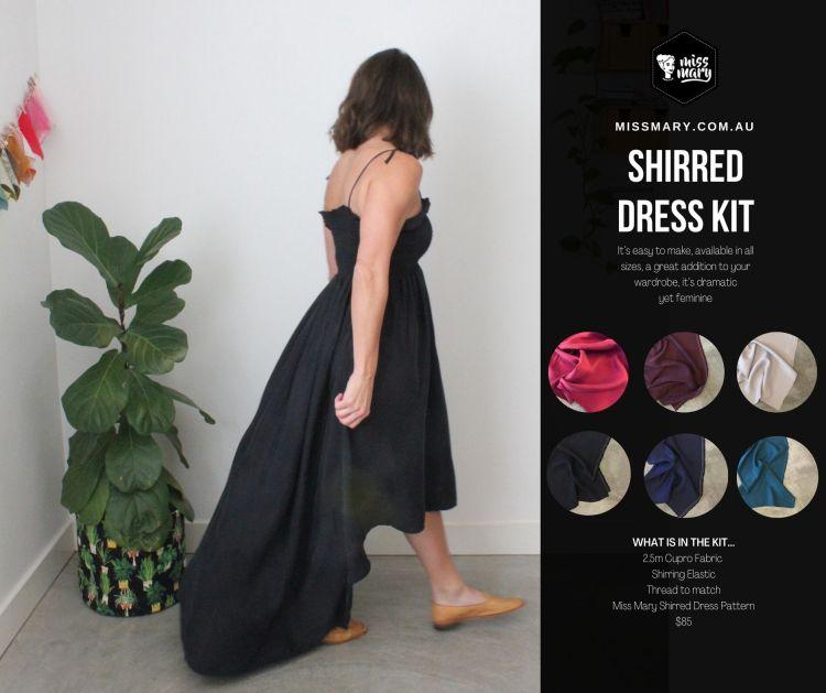 Shirred dress