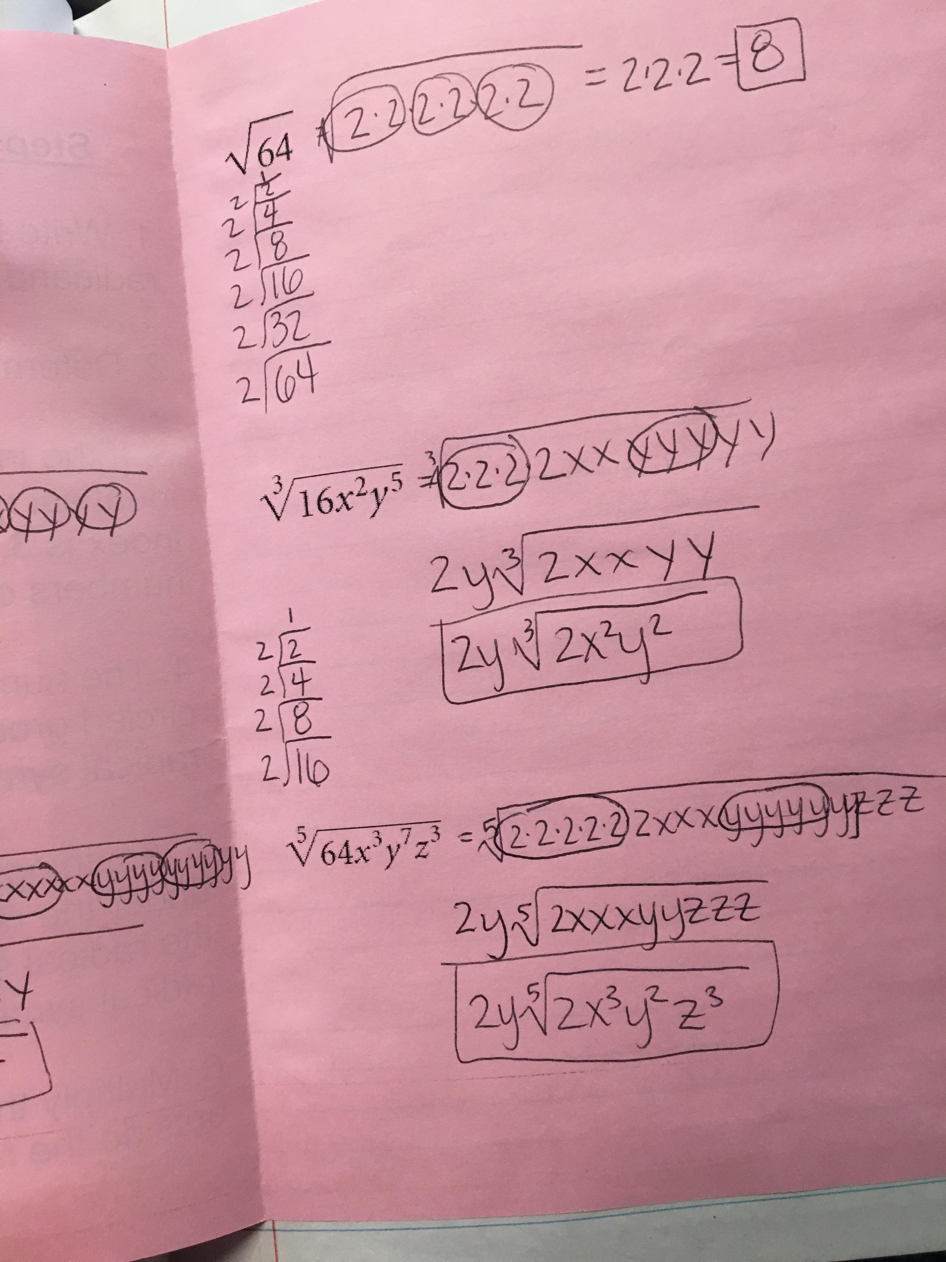Algebra 1 Unit 5 Interactive Notebooks Exponents And Radicals Mastalio Math Mavericks