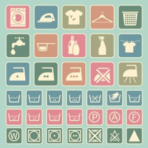 laundry instructions icons