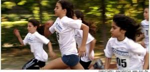 Women running in a race