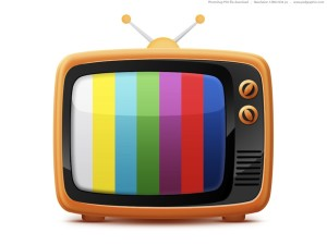 television with colors on screen