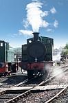 old steam engine on track