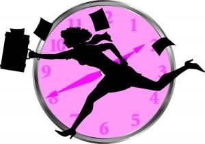 time management cartoon image