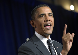 Barack Obama giving his state of the union address