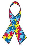 The Autism Awareness Ribbon from the Autism Society. http://www.autism-society.org/about-us/puzzle-ribbon.html
