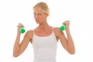 fitness goals, woman working out, hand weights
