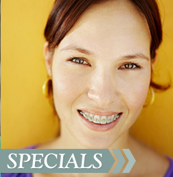 Woman with Braces, Orthodontist Concord NC