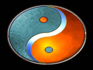 colorful yin yang sign