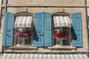 windows in france, building, windows