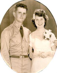 A portrait from my grandparent's wedding taken in 1952.