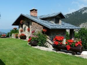 house on a mountain