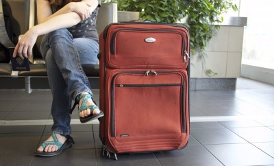 girl with a suitcase, travel